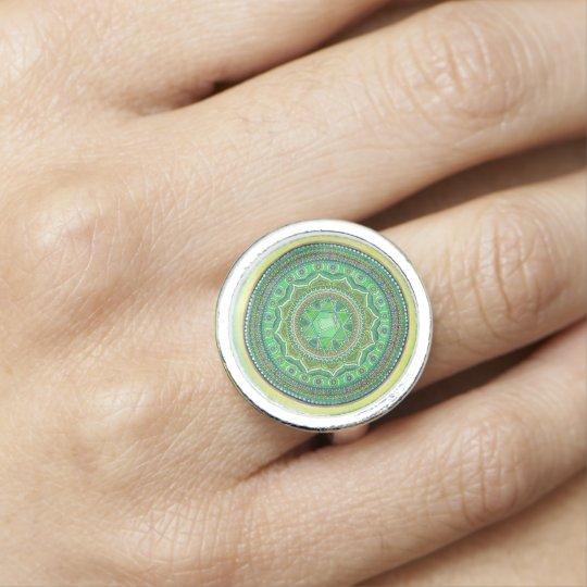 Heart Chakra Mandala Ring