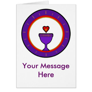 Heart Chalice Card Personalize