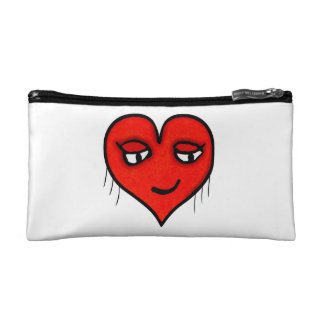 Heart Character Drawing Cosmetics Bags