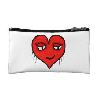 Heart Character Drawing Makeup Bag
