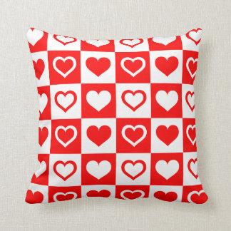 Heart Chequerboard Pattern Pillow