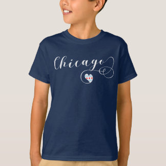 Heart Chicago Tee Shirt, Illinois