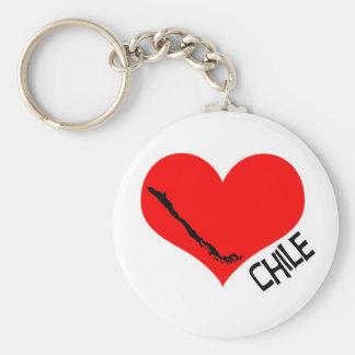 Heart Chile llavero Keychain