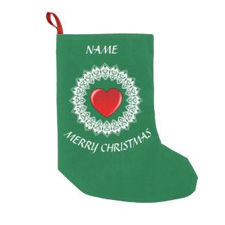 Heart Christmas Stocking Custom Name