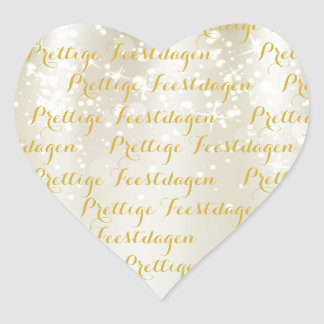 Heart Christmas text stickers pleasant holidays
