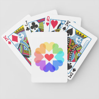 Heart circle bicycle playing cards