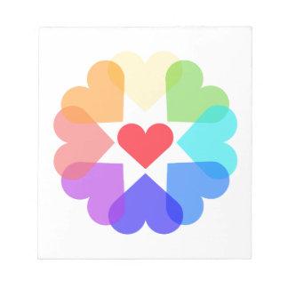 Heart circle notepad