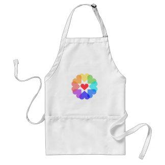Heart circle standard apron