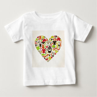 Heart clothes2 baby T-Shirt