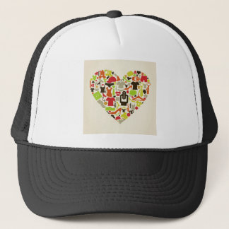 Heart clothes2 trucker hat