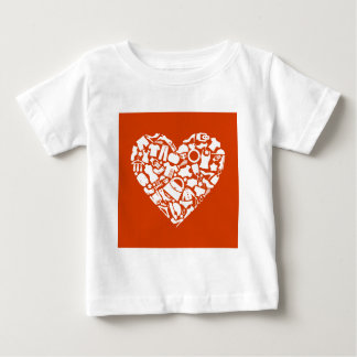Heart clothes3 baby T-Shirt