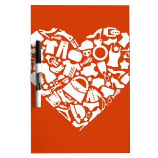 Heart clothes3 dry erase board