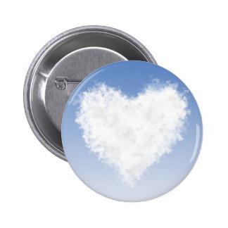 Heart Cloud 2 Inch Round Button