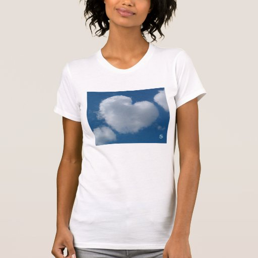 Heart Cloud T-shirt  ladies