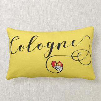 Heart Cologne Pillow, German Köln Lumbar Pillow