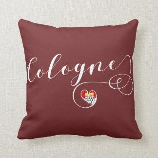 Heart Cologne Pillow, German Köln Throw Pillow