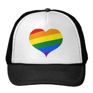 Heart colored trucker hat