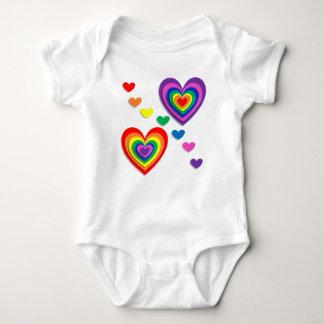 heart colours rainbow baby bodysuit