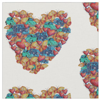 """Heart Combed Cotton (56"""" width) Fabric"""
