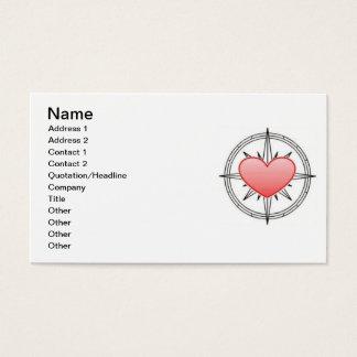 Heart Compass Card