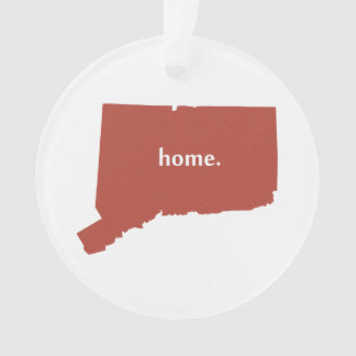 Heart Connecticut state silhouette Ornament