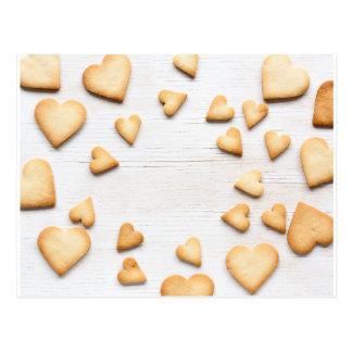 Heart cookies postcard