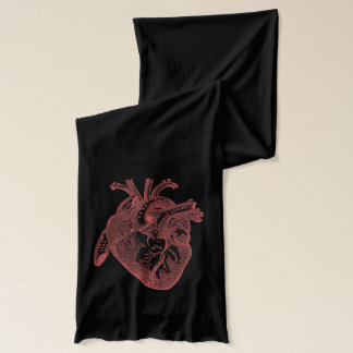 HEART/Cool Vintage Geek Anatomical Gifts Scarf