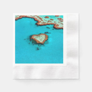 Heart Coral Reef Paper Napkins