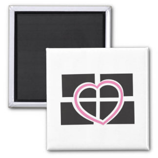 Heart Cornwall Square Magnet