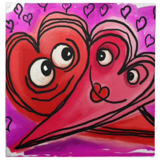 Heart Couple Art Napkin