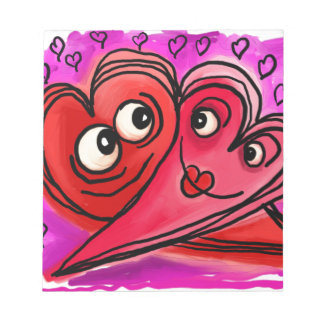 Heart Couple Art Notepad