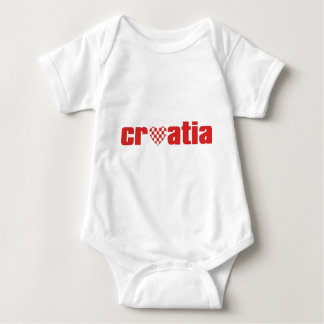 Heart Croatia Baby Bodysuit