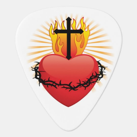 Heart & Cross Christian Guitar Pick Plectrum