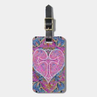 Heart Cross Mandala by Amelia Carrie Bag Tag