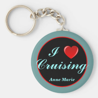 Heart Cruising personalized keychain