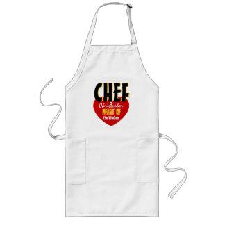 HEART Custom Name CHEF Heart of the Kitchen V08B Long Apron