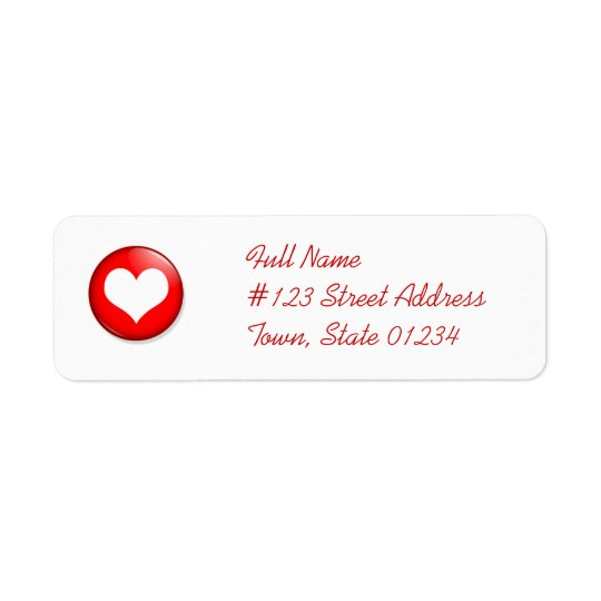 Heart Cut Out Mailing Label