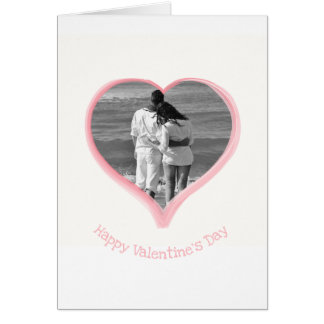 Heart cutout Valentine's Day Photo Greeting Card