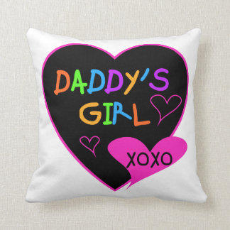 Heart Daddy's Girl T Shirts and Gifts Throw Pillow