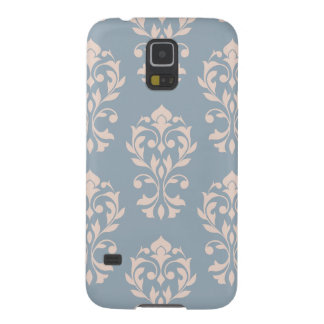 Heart Damask Lg Ptn II Pink on Blue Case For Galaxy S5