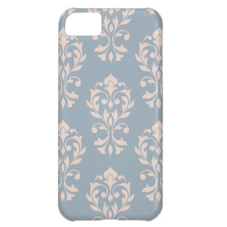 Heart Damask Lg Ptn II Pink on Blue iPhone 5C Case