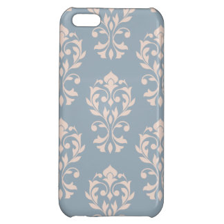 Heart Damask Lg Ptn II Pink on Blue iPhone 5C Covers