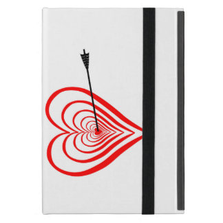 Heart Dartscheibe with arrow Cover For iPad Mini