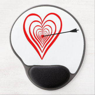 Heart Dartscheibe with arrow Gel Mouse Pad