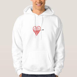 Heart Dartscheibe with arrow Hoodie
