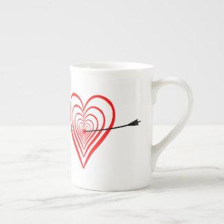 Heart Dartscheibe with arrow Tea Cup