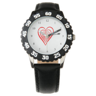 Heart Dartscheibe with arrow Watch