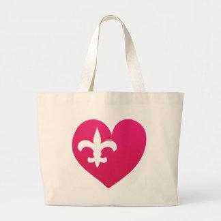 Heart de Lis Large Tote Bag