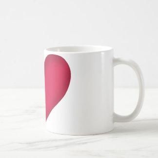 heart design basic white mug