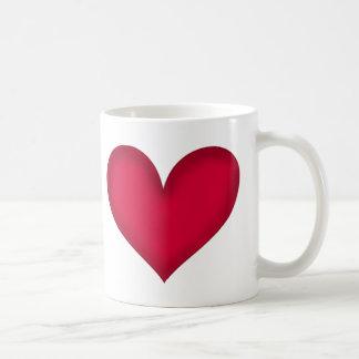 heart design coffee mugs